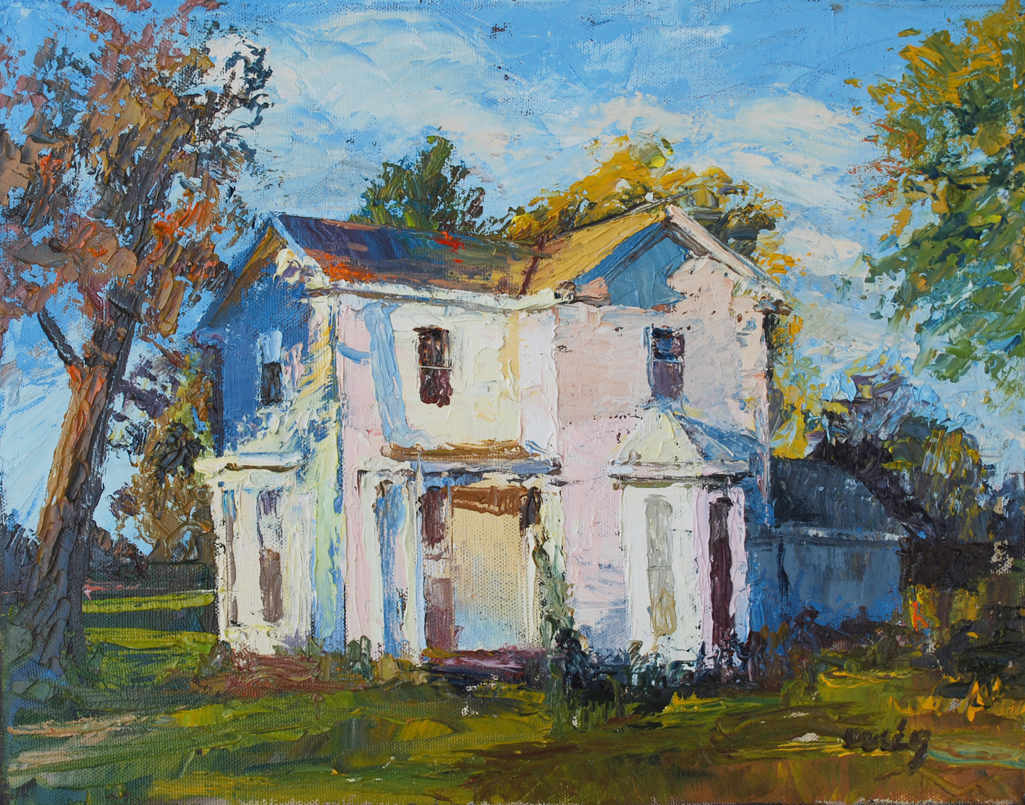 Painting stolen from cincinnati artist museum the for Oil paintings of houses