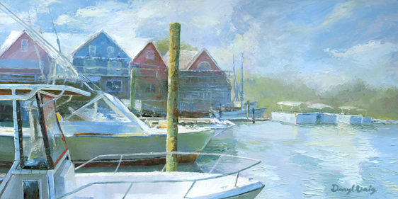 Salty Dog HHI oil painting by Daryl Urig