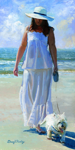 walk with a friend oil painting by daryl urig